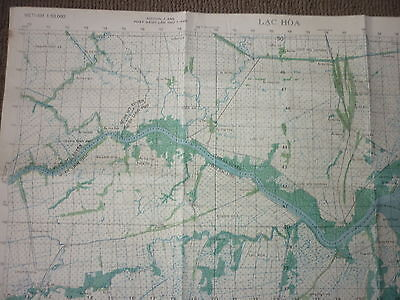 6227 iv - RIVER OPS - 1969 MAP - US NAVY SEALs - BAC LIEU, BA XUYEN, VIETNAM WAR