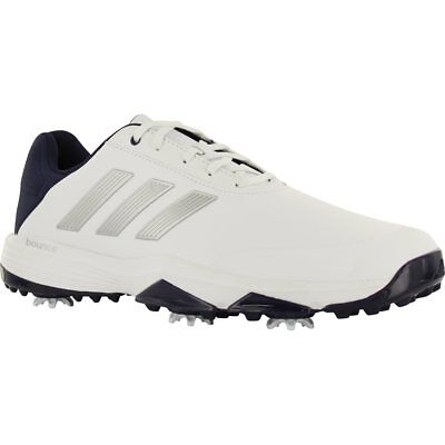New Adidas Mens Adipower Bounce Size 9 White / Navy #f33575   Golf Shoe 0731556