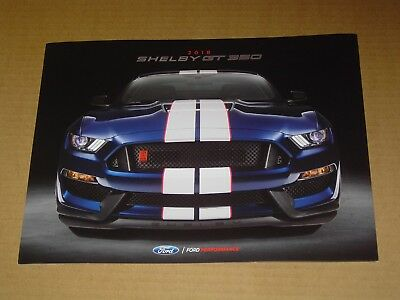 2018 Ford Performance Shelby Gt 350 Mustang Only Sales Brochure Mint! 6 Pages