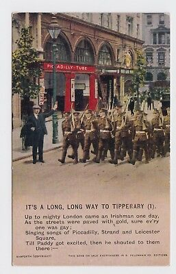 Bamforth WW1 Song Postcard, Long Way to Tipperary