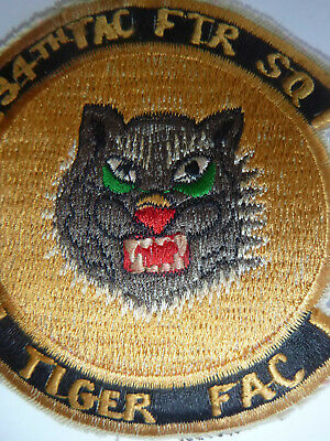 TIGER FAC - US Air Force PATCH - 34th TACTICAL FIGHTER SQN - Vietnam War - 6713
