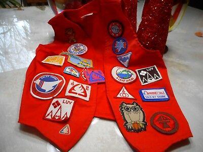 Vintage Kids Camp Fire Oklahoma Vest Full of Patches
