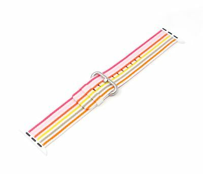 Apple Woven Nylon Band for Apple Watch 42mm Pink Stripe Genuine
