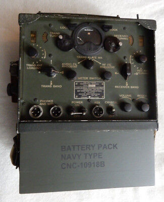 Original Us Navy Usmc Tby-8 Radio With Replica Battery Box, Windtalkers