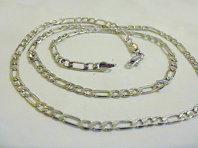 """bling silver plated FASHION figaro 20"""" chain hip hop necklace thug PIMP JEWELRY"""