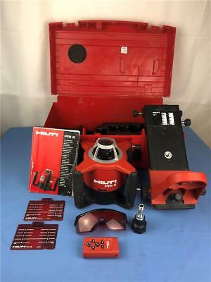 Hilti PRI2 Rotary Laser Rotating Laser w/ Remote Receiver In Case