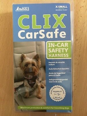 BNIP Company of Animals CLIX CAR HARNESS size EXTRA SMALL CarSafe XS Dog NEW