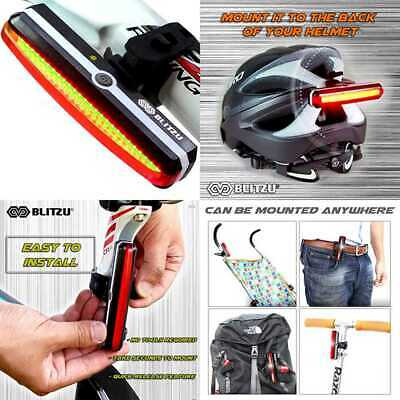 BLITZU Ultra Bright Bike Light Cyborg X2 USB Rechargeable Bicycle Tail Light.