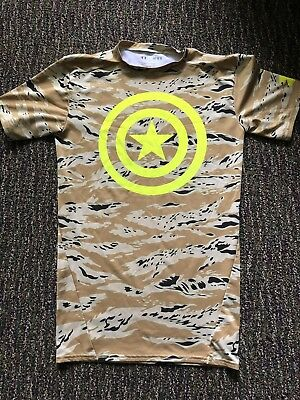 Under Armour Heatgear Captain America Compression Camo Mens Medium
