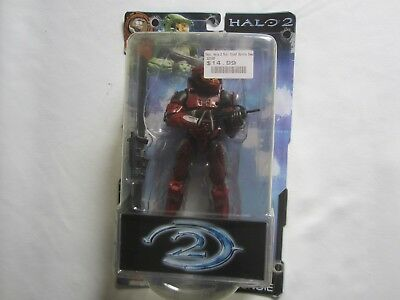 HALO 2 Series 4 JOYRIDE BUNGIE Red SPARTAN ACTION FIGURE New SEALED Vintage TOY