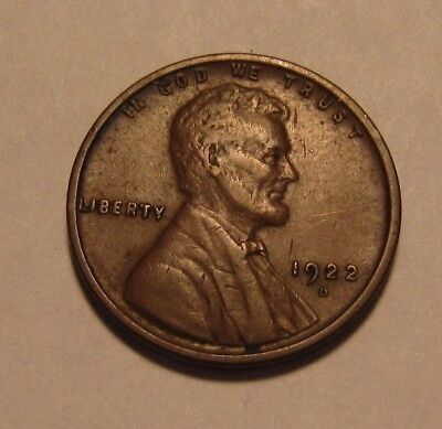 1922 D Lincoln Cent Penny - Extra Fine Condition - 11FR