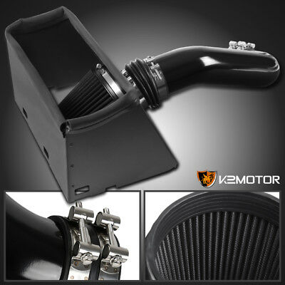 Glossy Black 2009-2015 Ram 1500 2500 5.7L V8 Hemi Cold Air Intake w/ Heat Shield