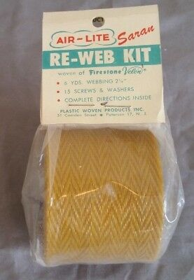 Vintage Air-Lite Lawn Chair Replacement Webbing Kit Patio Furniture