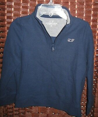 Vineyard Vines navy pullover 3 3T years 1/4 zip shirt top blue whale logo