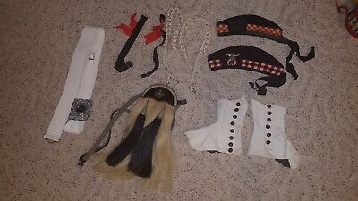 Vintage Scottish 10 Piece Bagpiper Outfit w Pony Hair Sporran, Glengarry & Spats