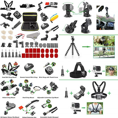 Asobeage 55 In 1 Gopro Accessories Kit For Hero 7 4 5 6 Session BLACK 2018 Fusio