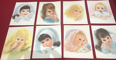 8 Northern Bath Tissue American Beauty Girls Prints 11 x 14, 3 Signed By F Hook