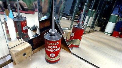 Vintage - TEXACO HOME LUBRICANT--oil can- Collectible Advertising Oiler Mancave