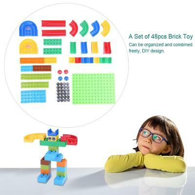 48pcs Baby Puzzle Early Education Assembly Toy Kids Plastic Pathway Brick Toy