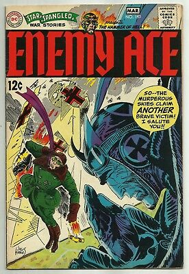 STAR SPANGLED WAR STORIES #143 (Enemy Ace by Joe Kubert, WWI Aviator) DC, 1969