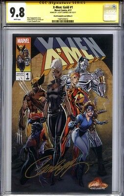 X-MEN GOLD #1 CGC 9.8 SS J. SCOTT CAMPBELL Exclusive (Variant cover B)