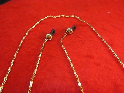 Eyeglass Holder 30 Inch 14Kt Gold Ep 2Mm Singapore Chain Eyeglass Holder