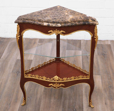 FRENCH CORNER TABLE - ECKTISCH MÖBEL mit MARMORAUFLAGE, LUXUS ANTIKSTIL MÖBEL