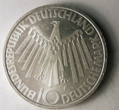 1972 GERMANY 10 MARK - UNCOMMON Coin - BIG Value Silver Coin - Lot #D15