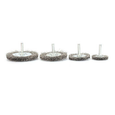 4Pc 38~75mm Flat Crimped Stainless Steel Wire Wheel Polishing Brush Rust Removal