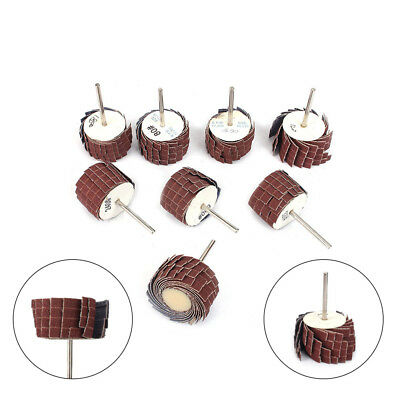 35-120mmEmery Cloth Sandpaper Wire Abrasive Flap Wheel 80-600Grit With 3mm Shank