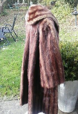 Beautiful Vintage Genuine Mink Fur  Coat