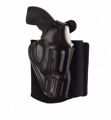 Galco AG160B Black Right Hand Ankle Glove (Ankle Holster) S&W J Frame 36 60