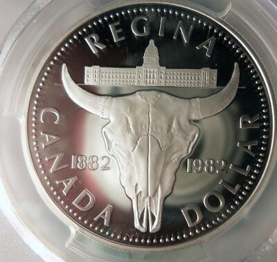 1982 CANADA DOLLAR - SILVER PROOF - PCGS PR69 DCAM - Awesome!! - Lot #D15