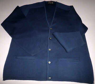 """Vint Aust Made""""fitwear""""pure New Wool 5 Button Cardigan Welt Pockets Size M - New"""