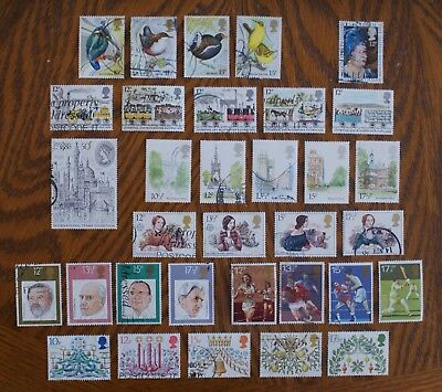Complete GB commemorative stamp set issues for 1980 (used)
