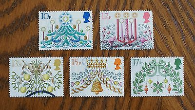 Complete used GB stamp set - 1980 Christmas decorations
