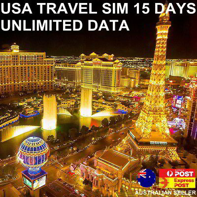 15 Days USA/United States Travel SIM Card | Unlimited Data | $1.99 a day