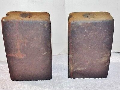 Large Early Set Of Square Clock Weights  Parts No Reserve