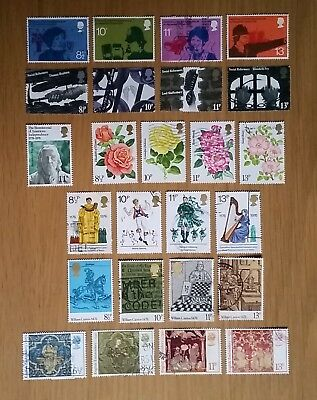 Complete British commemorative postage stamp set issues for 1976 (used)