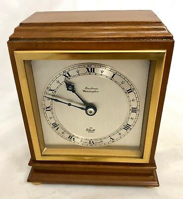 ELLIOTT LONDON Mahogany Bracket Mantel Clock : Eustance Warrington