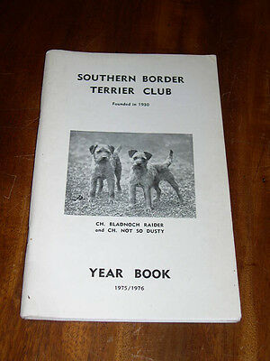 """Rare Dog Book """"the Southern Border Terrier Club Yearbook 1975-1976"""" Illustrated"""