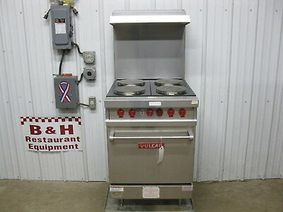 Vulcan Heavy Duty Four 4 Burner Hot Plate Electric Range w/ Oven E24L