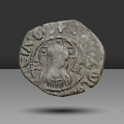 Andronicus II Palaeologus, with Michael IX. 1282-1328. Æ Assarion.