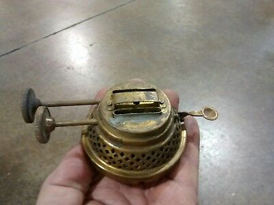 "Antique Lighting Parts Oil Lamp ""Thom. B Adams NY"" Double Burner Brass Finish"