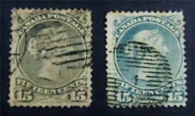 nystamps Canada Stamp # 30 30b Used $115