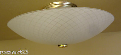 Vintage Lights antique pair 1950s Mid Century ceiling fixtures by Moe