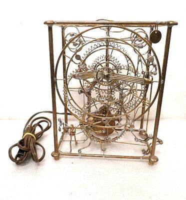 Rare Electric Skeleton Modernistic Clock--1980's--LOOK AT THIS ONE!!