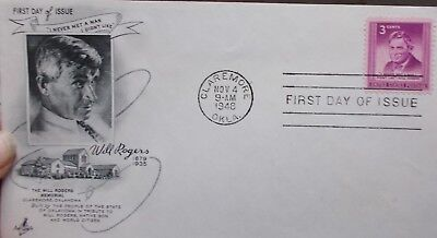 FDC  USA  Claremore 4.11.1948   Will Rogers