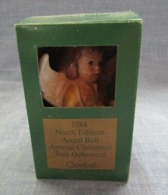 Goebel Angel Porcelain Bell Ornament 1984 Little Drummer Girl In Original Box