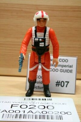 #o0200 > Luke Skywalker X-Wing Pilot < No Coo #07 - 100% Original Star Wars Vint